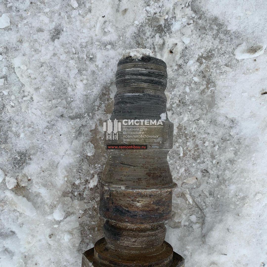 Демонтаж валов бетоносмесителя